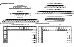 Steel structural detail dwg file