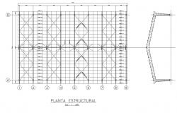 Steel structural working plan detail dwg file