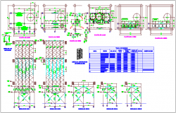 Steel structure plan and elevation for glucose processing equipment dwg file