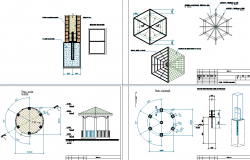 Steel structure plan detail view dwg file
