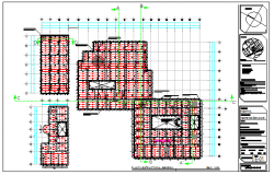 Steel structure plan in hospital design drawing