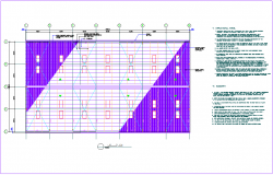 Steel structure plan with detail for 2000 birds capacity poultry processing unit dwg file