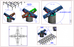 Steel structure view dwg file