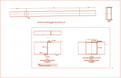 Steel structure view of bridge part dwg file