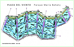Steel structure view of cover plan dwg file