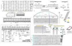 Steel structured super market architecture project dwg file
