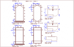 Step door design view with wooden frame design dwg file