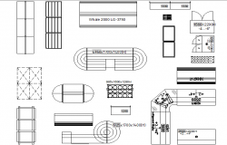 Store and supermarket supplies detail dwg file