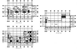 Store house project plan detail dwg file