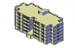 Storey residential building 3d