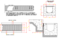 Storm ventilation construction details dwg file