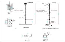 Street lamp detail dwg file