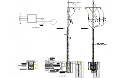 Street light section plan layout file