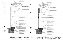 Street light section plan layout file