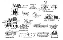 Stretcher machine assembly and electric installation cad drawing details dwg file
