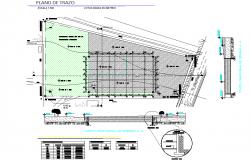 Stroke plan detail dwg file