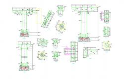 Structural Column Design With Fixing on MS Member AutoCAD File