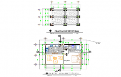 Structural and architect plan detail layout file