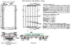 Structural beam plan and section detail dwg file
