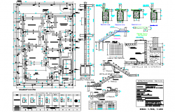 Structural building plan and section plan autocad file