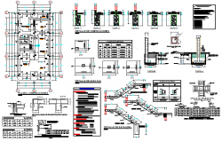 Structural building plan detail dwg file
