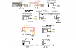 Structural building plan dwg file