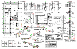 Structural building section plan detail dwg file