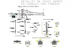 Structural canal plan detail dwg file