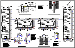 Structural center line plan detail dwg file