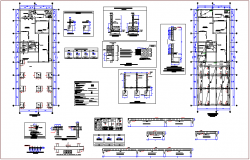Structural design of bank dwg file