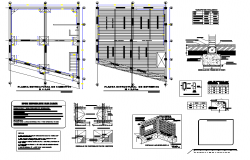 Structural design view of cafe area floor plan dwg file