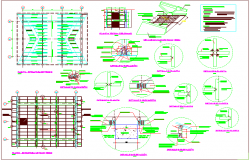 Structural design view of roof structural detail view dwg file