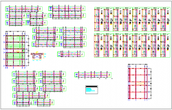 Structural design view of school dwg file