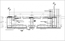 Structural design with column view dwg file