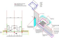 Structural detail isometric view and plan.