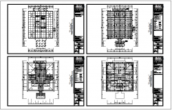 Structural detail of beam with plan dwg file