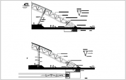 Structural detail of metal arc dwg file