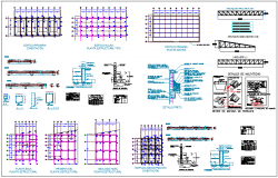 Structural detail view of column for school dwg file