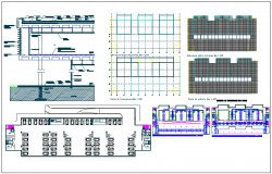 Structural detail view of column with plan dwg file