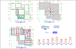 Structural floor plan with detail with necessary detail dwg file