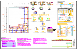 Structural member detail and section view detail dwg file