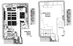 Structural plan of industrial building 2d view layout file in dwg format
