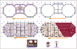 Structural plan view with structural detail dwg file
