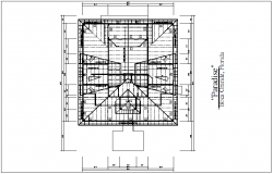 Structural section view of truss plan dwg file