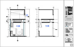 Structural system of ground floor plan of single apartment dwg file