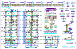 Structural view of beam with floor plan dwg file