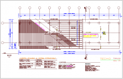 Structural view of ceiling plan for classroom dwg file