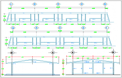 Structural view of classroom dwg file