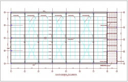 Structural view of cover plan dwg file