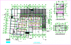 Structural view of floor plan dwg file